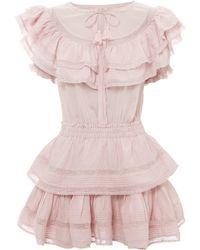 LoveShackFancy - Liv Ruffle Mini Dress - Lyst