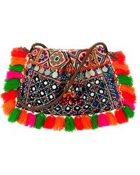 Muzungu Sisters - Cotton Fringe Mirrored Coin Bag - Lyst