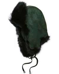 Pologeorgis - Shearling Lamb Trapper Hat - Lyst
