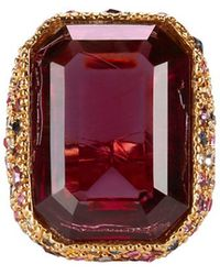 Kenneth Jay Lane - Crystal Cocktail Ring - Lyst