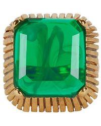 Elizabeth Cole - Wren Cocktail Ring: Green - Lyst