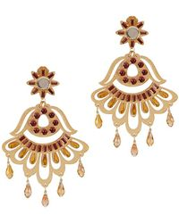 Mercedes Salazar - Fiesta Gold Earrings - Lyst