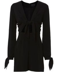 Exclusive For Intermix - Winter Knot Romper - Lyst