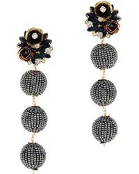 Mercedes Salazar - Fiesta Pyrite Beaded Earrings - Lyst