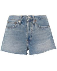 RE/DONE - Dirty Destroy Original Shorts - Lyst