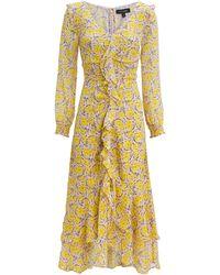 Intermix - Rowen Printed Midi Dress - Lyst