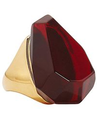 Alexander McQueen - Faceted Stone Ring - Lyst