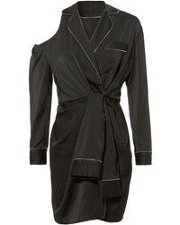 Alexander Wang | Pajama Silk Wrap Dress | Lyst