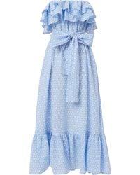 Lisa Marie Fernandez | Sabine Strapless Ruffle Dress | Lyst