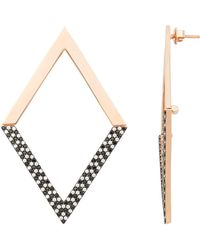 Nickho Rey - Diamond Shape Dipped Earrings - Lyst