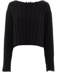 T By Alexander Wang - Off Shoulder Pullover - Lyst