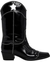 Ganni - Marlyn Star Cutout Western Boots - Lyst