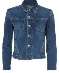 L'Agence - Janelle Cropped Denim Jacket - Lyst