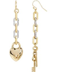 Lulu Frost Folly Heart And Key Drop Earrings