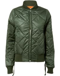 NSF - Neil Olive Green Quilted Bomber Jacket - Lyst