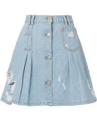 Public School | Penny Denim Mini Skirt | Lyst