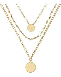 Ela Rae - Three Chain Layer Necklace - Lyst
