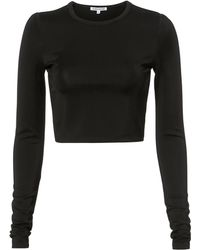 Elizabeth and James - Desmond Black Cropped Top - Lyst