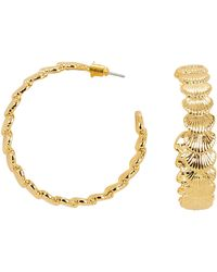 Noir Jewelry - Clam Up Hoops - Lyst