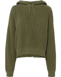 RTA - Marvin Green Cropped Hoodie - Lyst