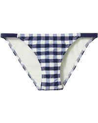 Solid & Striped - Morgan Gingham Bikini Bottom - Lyst
