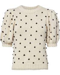 Ulla Johnson - Bettine Polka Dot Embroidered Sweater - Lyst