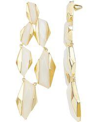 Noir Jewelry - White Resin Statement Earrings - Lyst