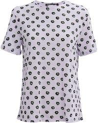 Proenza Schouler - Lavender Floral Tissue T-shirt - Lyst