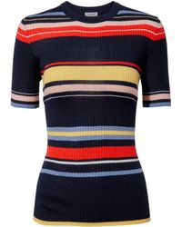 FRAME - Panel-striped Sweater - Lyst