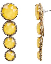 Elizabeth Cole - Yellow Graduated Drop Earrings - Lyst
