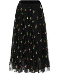 Philosophy Di Lorenzo Serafini - Floral Tulle Skirt - Lyst