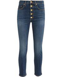 Veronica Beard - Debbie Gold Button Skinny Jeans - Lyst