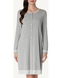 Intimissimi - Button-front Lace Detail Nightdress - Lyst