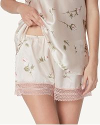 Intimissimi | Lace & Roses Silk Shorts | Lyst