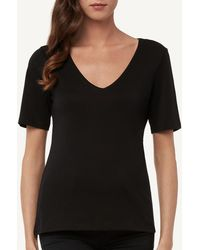 Intimissimi - Short-sleeve V-neck Top In Supima® Cotton - Lyst