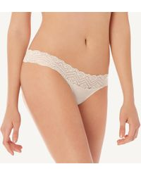 Intimissimi - Seamless Cotton And Lace Cheeky - Lyst
