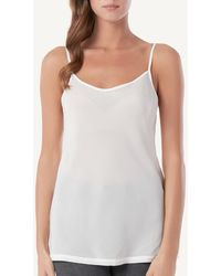 Intimissimi - Silk Top With Thin Straps - Lyst