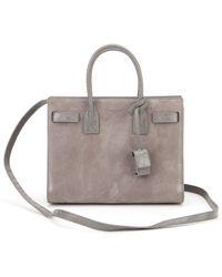 Saint laurent Ysl Canvas Shopping Beach Bag in Pink (CREMA/KAKI ...