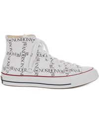 J.W.Anderson - Womens White Logo Grid Chuck Taylor Converse - Lyst