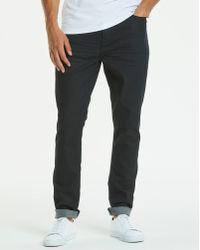 Jacamo - Slim Coated Black Jeans 31 In - Lyst