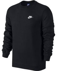 Nike - Swoosh Club Crew Neck Sweat Reg - Lyst