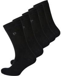 Pierre Cardin - Pack Of 5 Black Socks - Lyst
