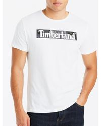 Timberland - White Linear T-shirt R - Lyst