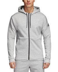 8fe4e1ff9e7d Lyst - adidas Originals Tape Full Zip Hoodie in Gray for Men