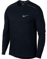 On - Men's Nike Breathe Rise 365 Running Lg Sleeve - Lyst