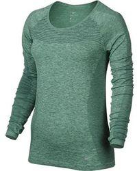 On - Women's Nike Dri-fit Knit Lg Sleeve Shirt - Lyst