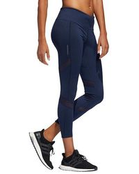 fb30a142fa0 adidas Running How We Do Leggings In Blue Colourblock in Blue - Lyst