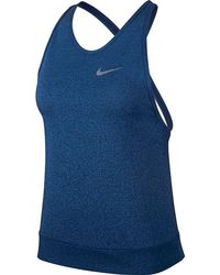 fc633eebd7823 Lyst - Nike Medalist Crossback Tank Top in Black