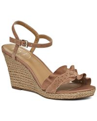 Jack Rogers - Exclusive Vale Suede Wedge - Lyst