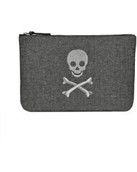 Jack Rogers - Embroidered Skull & Crossbones Pouch - Lyst